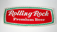 "Vtg Large Rolling Rock Beer Brewing Distributor Jacket Patch 1960s NOS New 9""x4"""