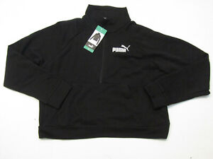 PUMA Womens Black White 1/2 Zip Pullover Sweater Jacket Size XL X-Large NWT