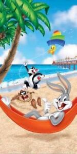 Looney Toon Beach Warner Bros Beach Towel Bath Towel 30x60 inches