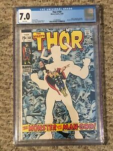 The Mighty Thor #169 Marvel 1969 CGC 7.0 WHITE PAGES Origin of Galactus Key