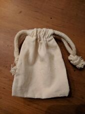 """3"""" X 4"""" Qty (50) Unbleached Cotton Muslin Double Drawstring Bags Pouches"""