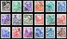 EBS East Germany DDR 1957 5 Year Plan Fünfjahrplan Letterpress Michel 405-422 ND