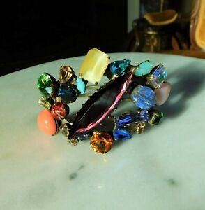 Vintage NIKOLAS FRANGOS Big & Bold Swarovski Crystal Bracelet