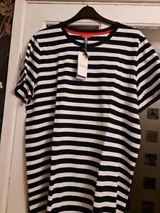 JOULES LIBERTY STRIPED JERSEY DRESS. BNWT. COLOUR. NAVY & WHITE STRIPE. SIZE. 12