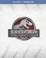 Jurassic Park Collection Blu-ray 4 Film Set in Book Case NO 3D NO Digital Copy