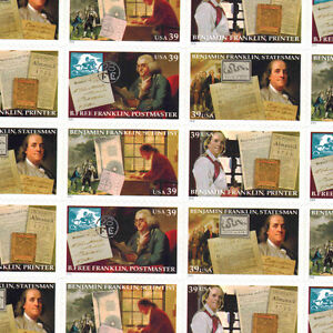 #4021-24 BENJAMIN FRANKLIN Full Mint Sheet of 20 NH OG