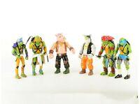 Teenage Mutant Ninja Turtles 6 pcs Toy Figures Set: Leo Ralph Donnie Mickey+More