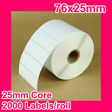16 rolls of 76x25mm Thermal Direct Label for Zebra/TSC/SATO/DATA MAX/Intermec