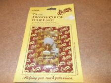 """Houseworks 1"""" Scale ~Frosted Ceiling Tulip Light~ #2650 NEW  12 Volt Bulb"""