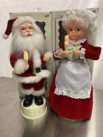 "Rennoc Animated Christmas Santa & Mrs. Claus 16"" Santas Best Little People"