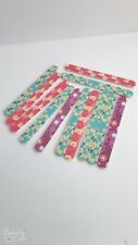 12pcs colorful double sided nail files emery board free shipping