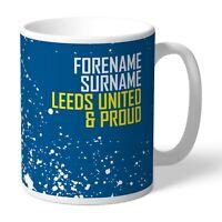 PERSONALISED Leeds United Mug Proud LEEDS Fan Birthday Gift Football Merchandise