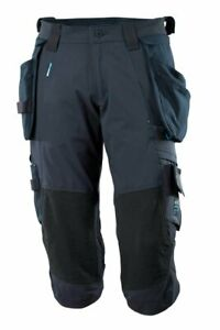 Mascot Advanced 3/4 length stretch work trousers with Zip On/Off Holster Pockets