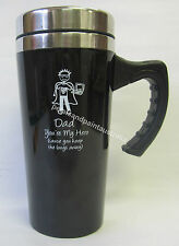 Dad My Hero Keep Bugs Away Thermal Travel Mug Reuseable Cup & Lid for Coffee,Tea