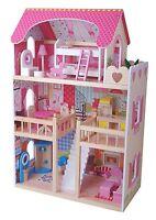 XXL Puppenhaus Traumhaus Villa Holz Prinzessinhaus Puppenstube NEU mit Möbeln 09