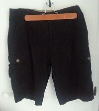 Plugg Co. Cargo Boys Mens Shorts Black  Size 30 Zipper Front w/ Pockets