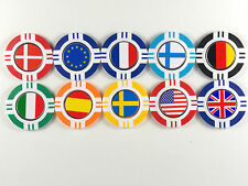 Magnetic Poker Chip With International Flag Ball Marker
