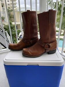 Men's FRYE USA Harness Brown Leather Boots Sz 11