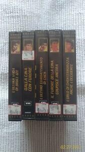 Collezione Bruce Lee cassette VHS