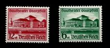 1938 Nazi Germany Saar City Theater Adolf Hitler Gift upon Takeover Mint Stamps