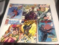 bulk lot Of Marvel Comics 90's : Punisher, Ghost Rider, Spiderman
