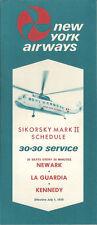 New York Airways system timetable 7/1/70 [5044]