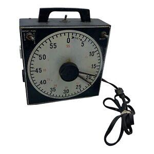 VINTAGE GRALAB MODEL 171 UNIVERSAL TIMER 60 MINUTES OUTLET Black DARK ROOM Works