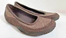 PATAGONIA Women's Gumwood Brown Leather Wool Slip On Shoes - Size US 5