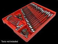 Tool Box Craftsman Chest Wrench Rack Tray Rail Toolbox Organizer Storage Red