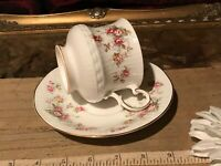 Queen's Rosina China Rosamund Roses Cup and Saucer