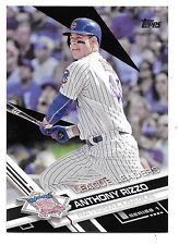 2017 Topps Series 1 Black Parallel #204 Anthony Rizzo Cubs 08/66
