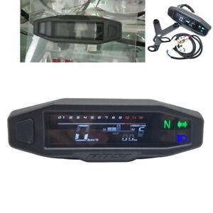 LCD Digital Universal Motorcycle Odometer Speedometer Tachometer 1200RPM Gauge