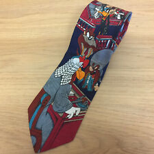 Looney Tunes Novelty Neck Tie - 1993 Law Court Judge Foghorn Leghorn Taz Sam