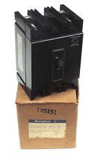 NIB WESTINGHOUSE 2606D95G12 DE-ION CIRCUIT BREAKER 600VAC, 250VDC, 25AMP, 2POLE