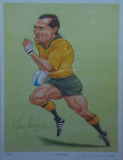 DAVID CAMPESE ( CAMPO ) CARICATURE SIGNED LIMITED EDITION RUGBY PRINT AUSTRALIA