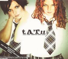 t.A.T.u. - All The Things She Said (UK 4 Tk Enh CD Single)