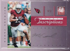 2012 Elite Rookie Inscriptions Michael Floyd Green Ink Auto Rc Only 30 Printed!!