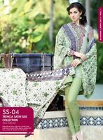 GUL AHMED SUMMER EMBROIDERED TRENCIA SATIN SILK SS 04 ** CLEARANCE **