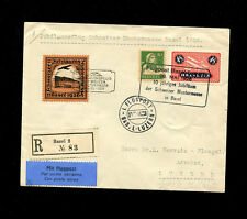 Switzerland 1926 Airmail  Jubilaumsflug cover with rare  Airmail vignette