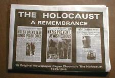 Jewish HOLOCAUST in 15 Newspaper Headlines JUDAICA Jews