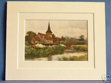 FORDWICH CHURCH NEAR CANTERBURY VINTAGE DOUBLE MOUNTED HASLEHUST PRINT 10X8
