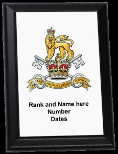 Personalised Wall Plaque - Military Provost Guard Service, MPGS