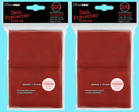 200 Ultra Pro DECK PROTECTOR Card Sleeves Red Standard Size Gaming ccg pokemon