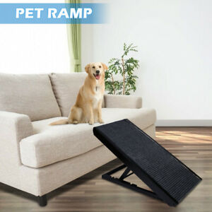 """40"""" Pet Ramp 4 Adjustable Height For All Dogs And Cats Non Slip Mat Folding Ramp"""