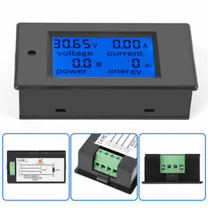 DC 20A LCD Combo Meter Spannungsstrom KWh Watt Autobatterie Panel Power Monitor.