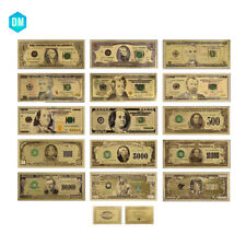 US Normal Money Set 15PCS Complete Set of American Bill Banknote Colored Bills