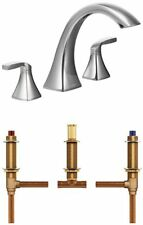 Moen T693-4792 Voss Two-Handle High Arc Roman Tub Faucet with Valve, Chrome