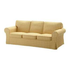Ikea covers set for Ektorp 3-Seater Sofa in Skaftarp Yellow  303.398.39