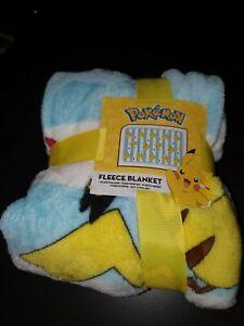 Official Pokemon Fleece Blanket Pikachu  Pokeball Soft Throw Machine Washable