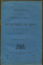 Dept. of Mines Summary Report of Geological Survey for 1913-Fold Out Maps